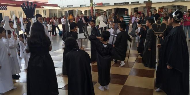 Jaque Mate hizo Don Bosco en el Ajedrez Viviente