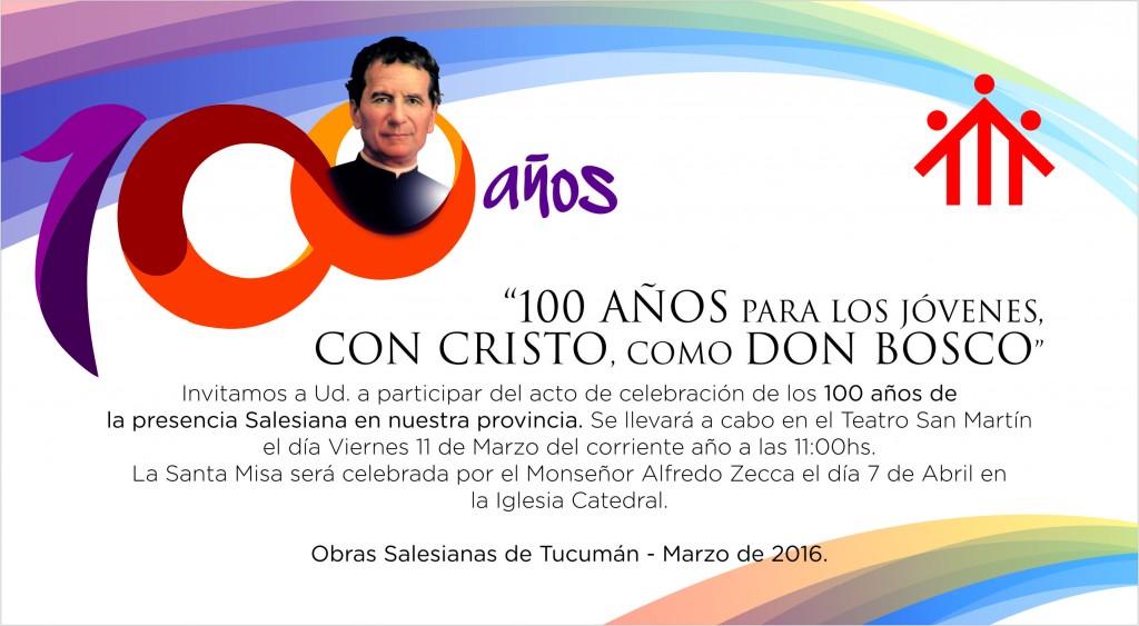 ANIVERSARIO 100 AÑOS SALESIANOS - INVITACION