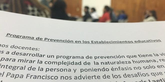 Capacitación sobre Prevención en los Estableciomientos Educativos