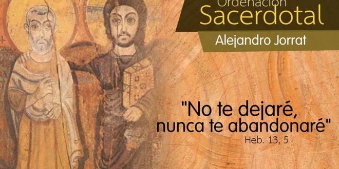 Invitación Ordenación Sacerdotal de Alejandro Jorrat