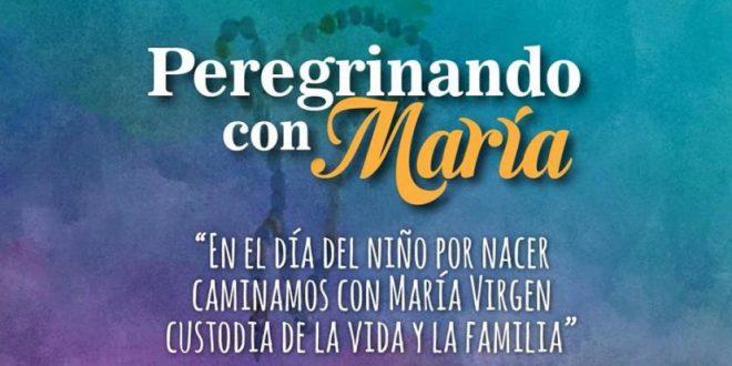 """""""En el día del niño por nacer caminamos con María Virgen custodia de la Vida y la Familia"""""""