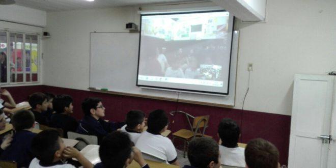 Videoconferencia de alumnos de 5to grado